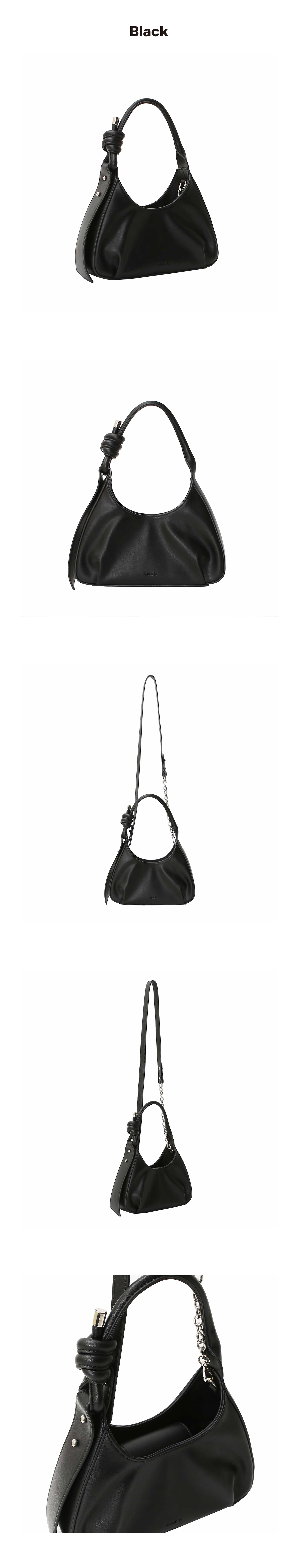 사비(4OUR B) rope chain bag _ Neutral black